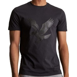 Clothing Men short-sleeved t-shirts Lyle & Scott Lyle and Scott Casuals Logo T-shirt Black