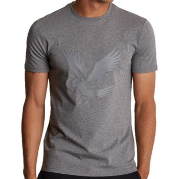 Clothing Men short-sleeved t-shirts Lyle & Scott Lyle and Scott Casuals Logo T-shirt Grey