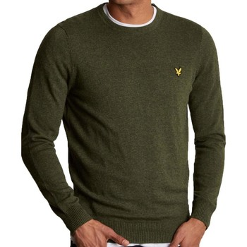 Clothing Men jumpers Lyle & Scott Lyle And Scott Cotton Merino Crew Neck Jumper Green