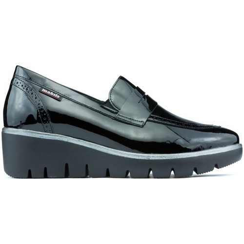 293fcac700 Mephisto Loafers Mobils Salika Vernicalf BLACK - Shoes Smart-shoes ...