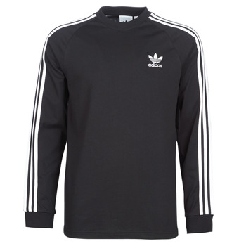 Clothing Men Long sleeved tee-shirts adidas Originals 3 STRIPES LS T Black