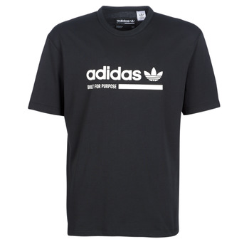 Clothing Men short-sleeved t-shirts adidas Originals SNAPI Black