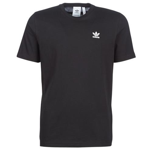 Clothing Men short-sleeved t-shirts adidas Originals ESSENTIAL T Black