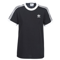 Clothing Women short-sleeved t-shirts adidas Originals 3 STRIPES TEE Black