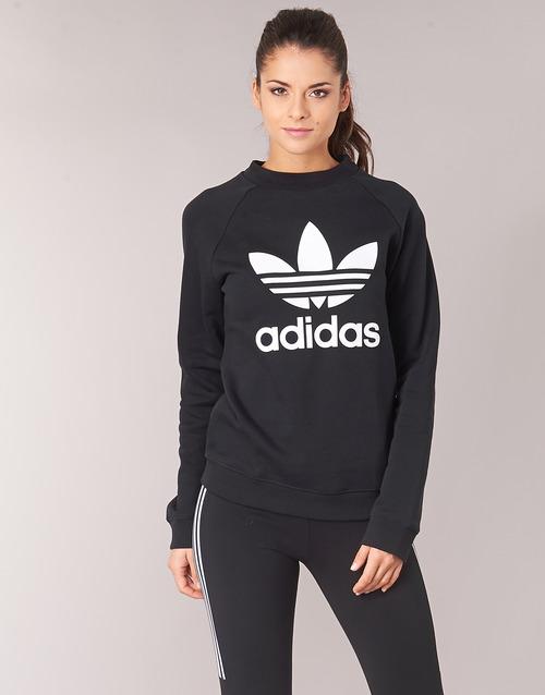 Clothing Women sweaters adidas Originals TRF CREW SWEAT Black