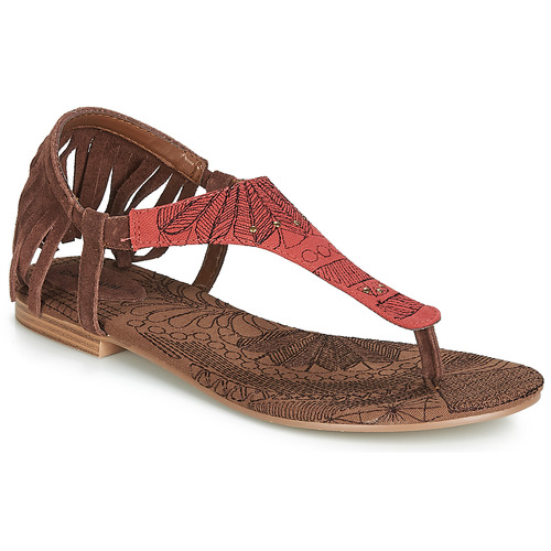 Shoes Women Sandals Desigual SHOES_LUPITA_LOTTIE Cognac / Red