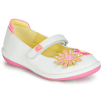 Shoes Girl Flat shoes Agatha Ruiz de la Prada BUTTERFLY White / Pink