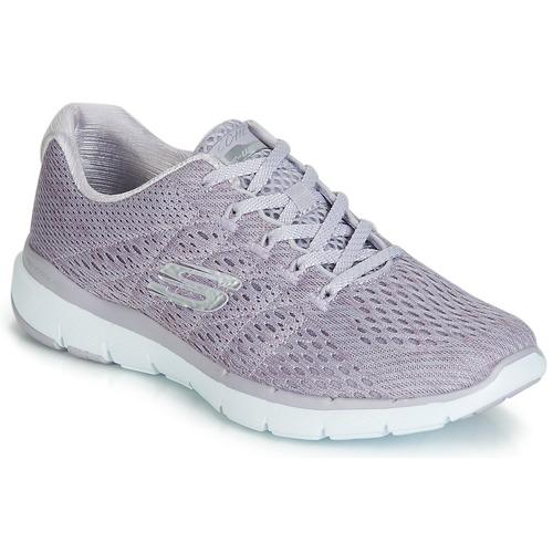 Shoes Women Low top trainers Skechers FLEX APPEAL 3.0 SATELLITES Grey