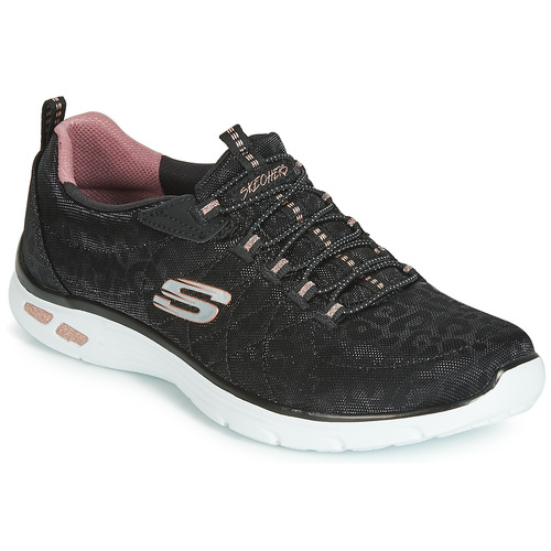 Shoes Women Low top trainers Skechers EMPIRE D'LUX SPOTTED  black
