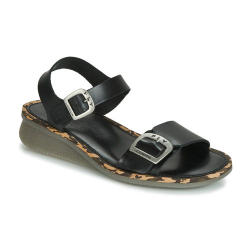 353fcc053267c Fly London COMB black - Free delivery | Spartoo UK ! - Shoes Sandals ...