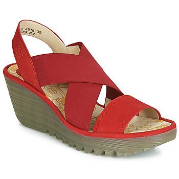 Shoes Women Heels Fly London YAJI Red
