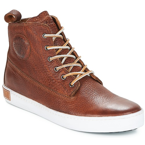 Shoes Men Hi top trainers Blackstone INCH WORKER Yellow