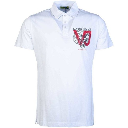 Clothing Men Short-sleeved polo shirts Versace Jeans Couture B3GSA7P936610_003white white