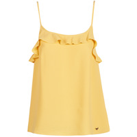 Clothing Women Tops / Sleeveless T-shirts Les Petites Bombes AZITAFE Yellow