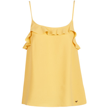Clothing Women Tops / Sleeveless T-shirts LPB Woman AZITAFE Yellow