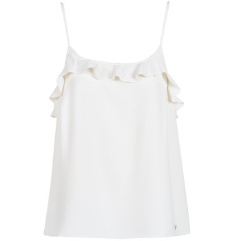 Clothing Women Tops / Sleeveless T-shirts Les Petites Bombes AZITAFE White