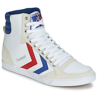 Shoes Hi top trainers Hummel SLIMMER STADIL HIGH White / Blue / Ribbon Red