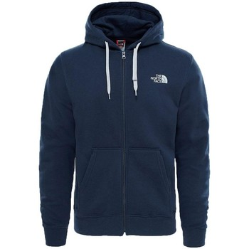 Clothing Men sweaters The North Face Mens Open Gate Full Zip Hoodie Urban Navy/ Grey Navy