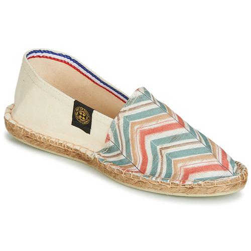 Shoes Women Espadrilles Art of Soule BOHEME BICOLOR Beige / Blue / Coral