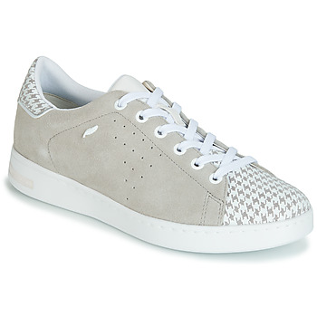 Shoes Women Low top trainers Geox D JAYSEN Grey / White