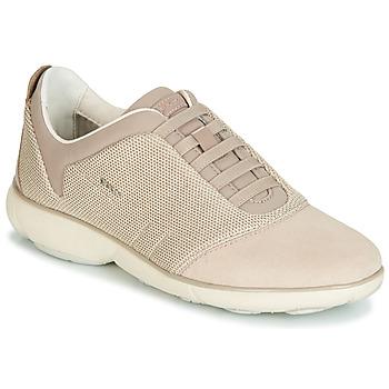 Shoes Women Low top trainers Geox D NEBULA Beige / Cream