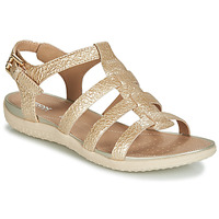 Shoes Women Sandals Geox D SANDAL VEGA Gold