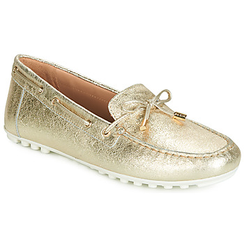 Shoes Women Loafers Geox D LEELYAN Gold