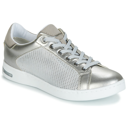 c92b197e73c Geox D JAYSEN Silver - Free delivery   Spartoo UK ! - Shoes Low top ...