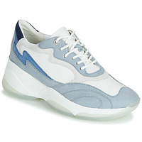 Shoes Women Low top trainers Geox D KIRYA White / Blue