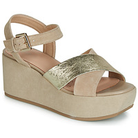 Shoes Women Sandals Geox D ZERFIE Gold / Taupe