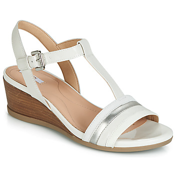 Shoes Women Sandals Geox D MARYKARMEN White / Silver