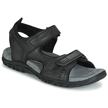 Shoes Men Outdoor sandals Geox UOMO SANDAL STRADA Black