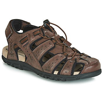Shoes Men Outdoor sandals Geox UOMO SANDAL STRADA Brown