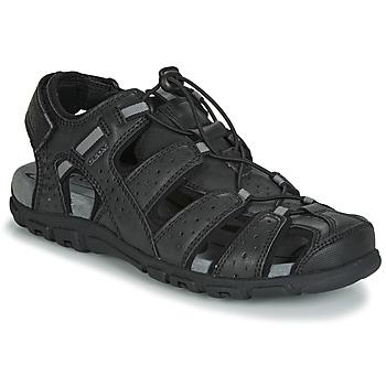 Shoes Men Sandals Geox UOMO SANDAL STRADA Black
