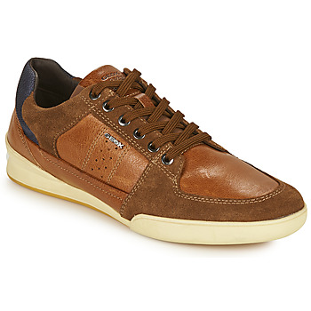 Shoes Men Low top trainers Geox U KRISTOF Brown