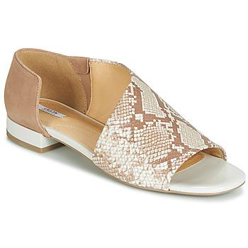 Shoes Women Sandals Geox D WISTREY SANDALO Beige / Scale