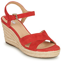 Shoes Women Sandals Geox D SOLEIL Red / Coral