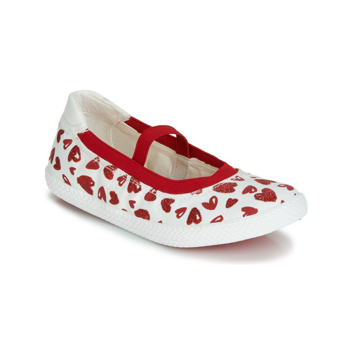 Shoes Girl Flat shoes Geox J KILWI GIRL White / Red