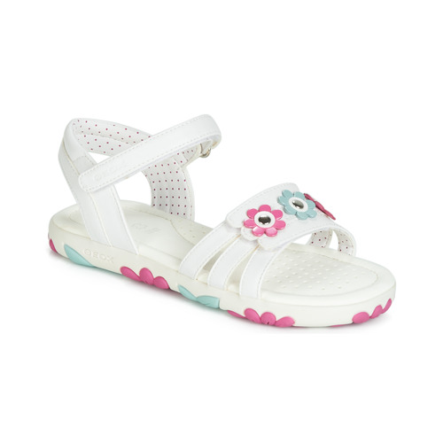 Shoes Girl Sandals Geox J SANDAL HAITI GIRL White