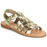 Shoes Girl Sandals Geox J SANDAL VIOLETTE GI Gold