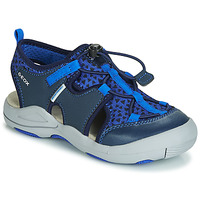 Shoes Boy Outdoor sandals Geox JR SANDAL KYLE Blue