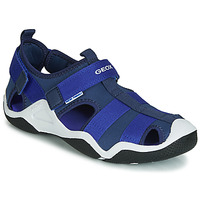 Shoes Boy Outdoor sandals Geox JR WADER Marine / Blue
