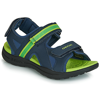 Shoes Boy Outdoor sandals Geox J GLEEFUL BOY Blue / Yellow