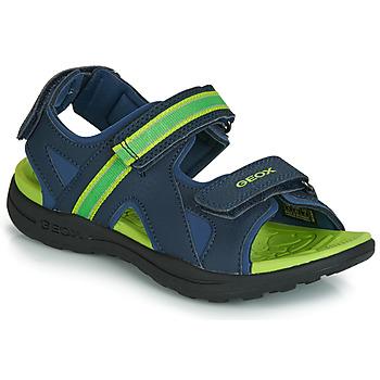 Shoes Boy Outdoor sandals Geox J GLEEFUL BOY Blue / Yellow
