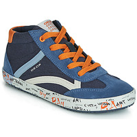 Shoes Boy Hi top trainers Geox J ALONISSO BOY Marine / Orange