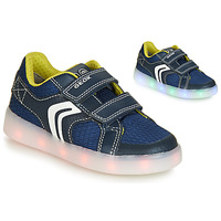 Shoes Boy Low top trainers Geox J KOMMODOR BOY Blue / Led