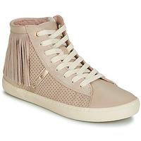 Shoes Girl Hi top trainers Geox J KILWI GIRL Beige