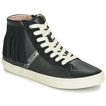 Shoes Girl Hi top trainers Geox J KILWI GIRL Black