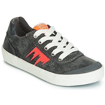 Shoes Boy Low top trainers Geox J KILWI BOY Grey / Orange