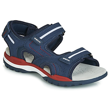 Shoes Boy Outdoor sandals Geox J BOREALIS BOY Marine / Red